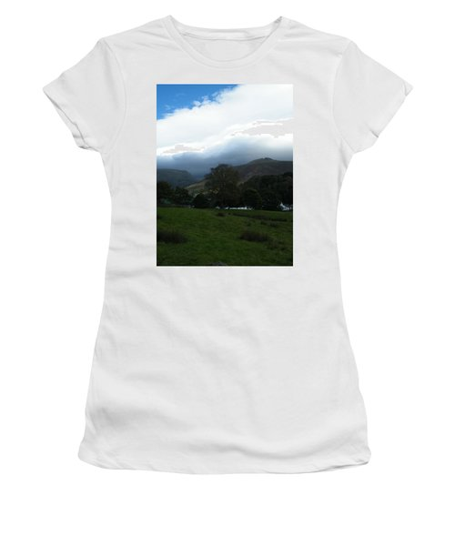 Cloudy Hills Women's T-Shirt (Athletic Fit)