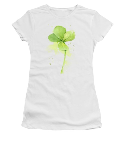 Clover Watercolor Women's T-Shirt