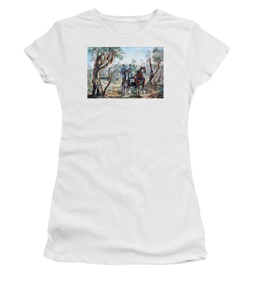 Clydesdales And Cart Women's T-Shirt