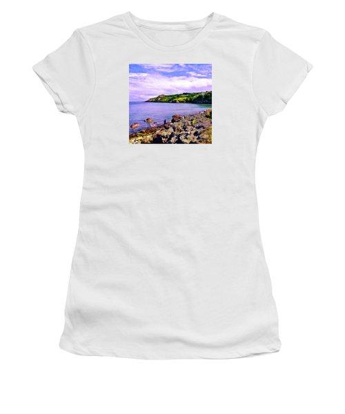 Rocky Coast At Howth Women's T-Shirt (Junior Cut) by Judi Bagwell