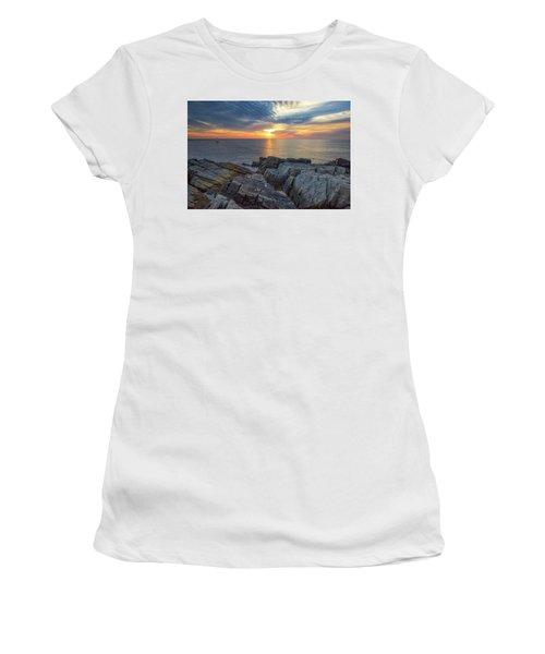 Coastal Sunrise On The Cliffs Women's T-Shirt