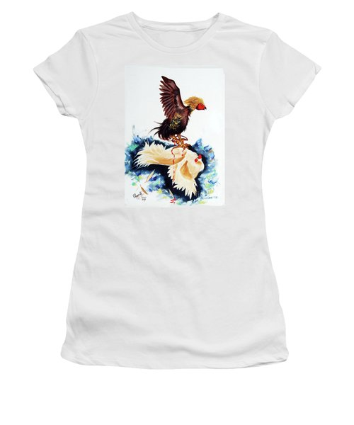 Cock Fighting Women's T-Shirt (Athletic Fit)