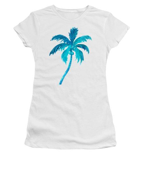 Coconut Palm Tree Women's T-Shirt (Junior Cut) by Jan Matson