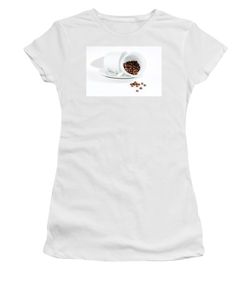 Coffee Cups And Coffee Beans  Women's T-Shirt (Athletic Fit)