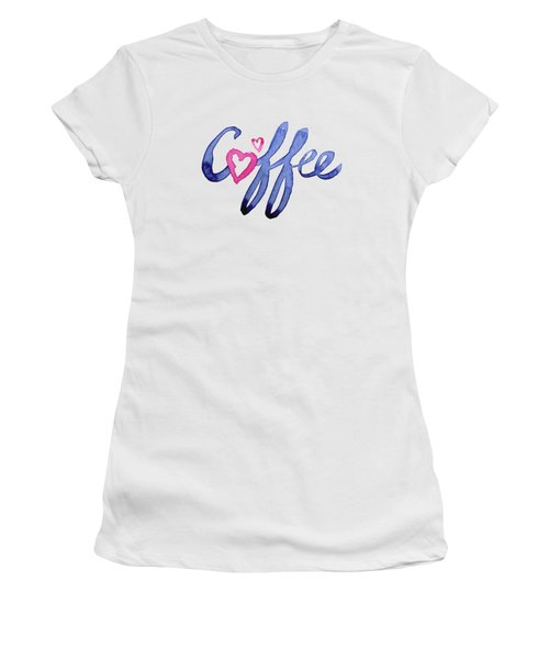 Coffee Lover Typography Women's T-Shirt (Athletic Fit)