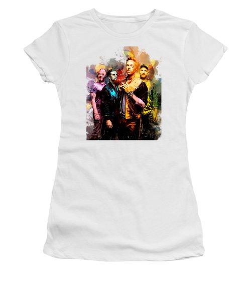Coldplay Women's T-Shirt (Junior Cut) by Rinaldo Ananta