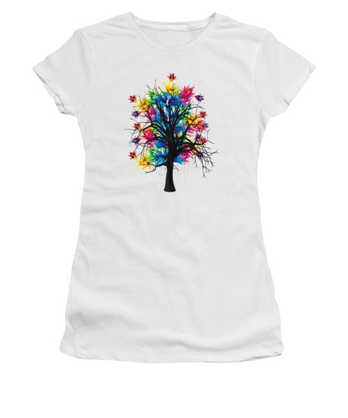 Color Tree Collection Women's T-Shirt (Junior Cut) by Marvin Blaine