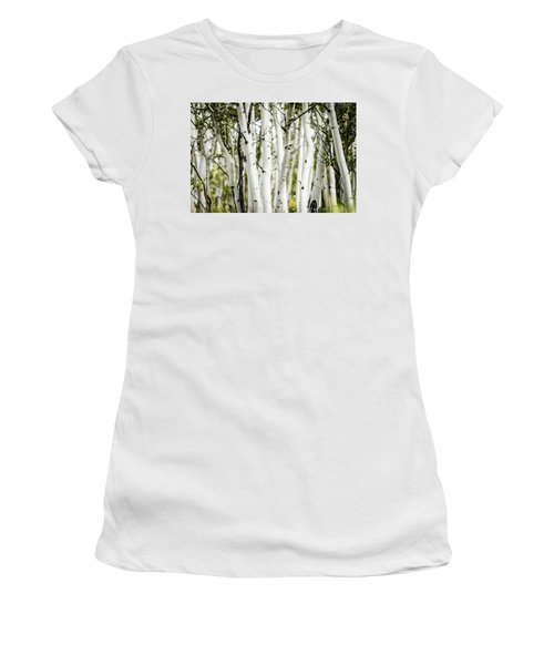 Women's T-Shirt (Junior Cut) featuring the photograph Colorado Aspens by Dawn Romine