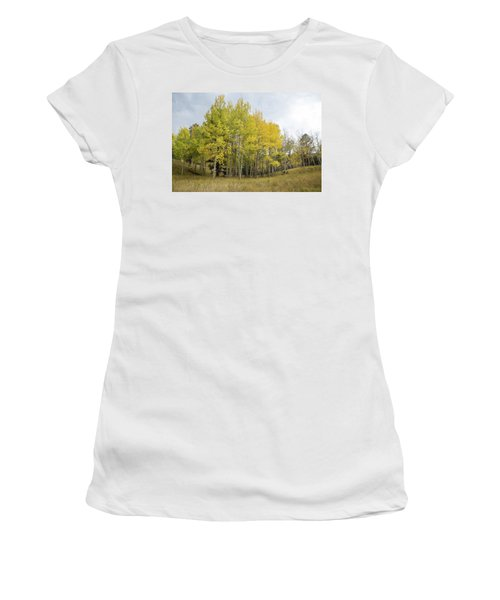 Colorado Aspens In Autumn Women's T-Shirt