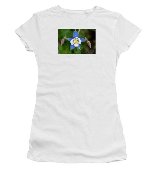 Colorado Blue Women's T-Shirt (Junior Cut) by Sandy Molinaro