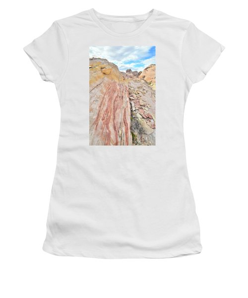 Colorful Crest In Valley Of Fire Women's T-Shirt (Junior Cut) by Ray Mathis