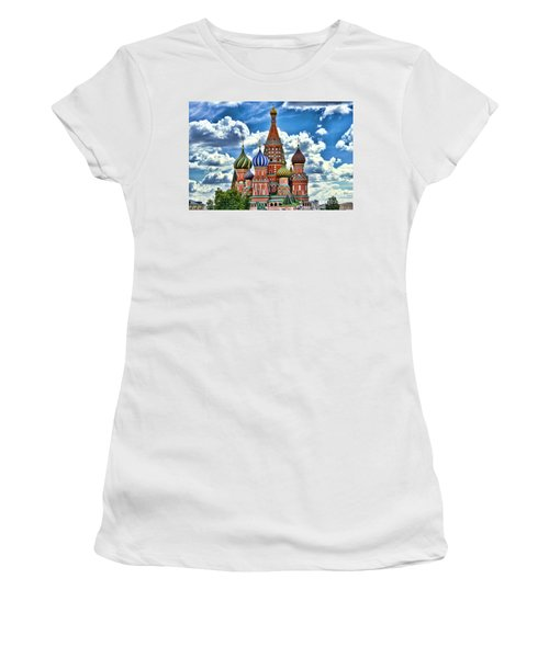 Colorful Domes Women's T-Shirt (Junior Cut) by Pravine Chester