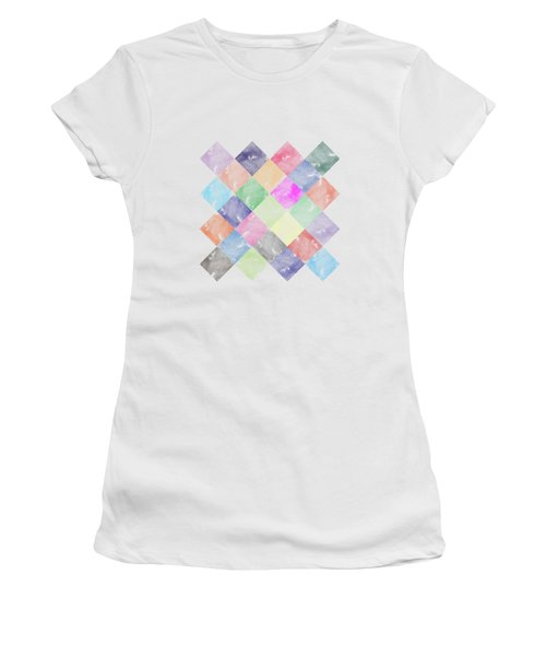 Colorful Geometric Patterns IIi Women's T-Shirt (Athletic Fit)