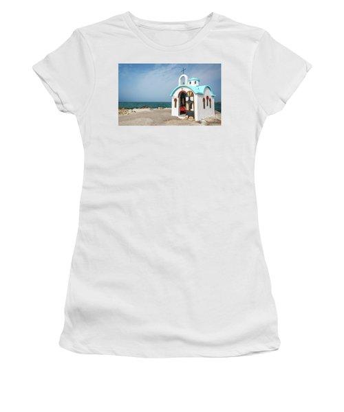 Colorful Greek Chapel Women's T-Shirt