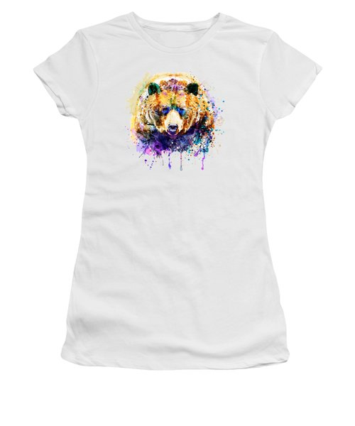 Colorful Grizzly Bear Women's T-Shirt