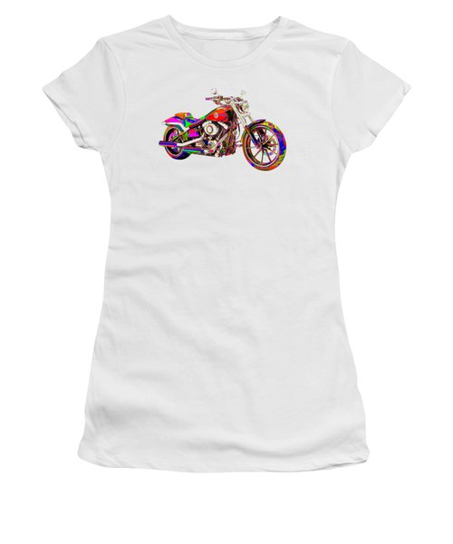 Colorful Harley-davidson Breakout Women's T-Shirt (Athletic Fit)