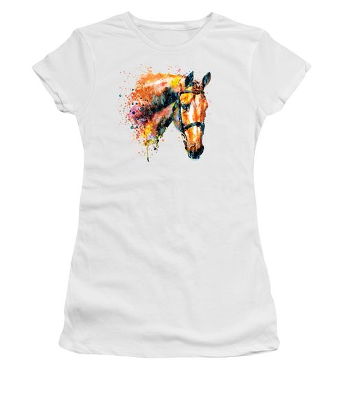 Colorful Horse Head Women's T-Shirt (Athletic Fit)