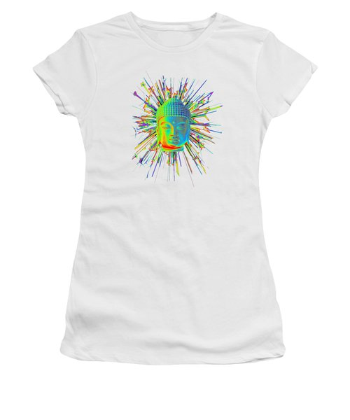 colorful Korean sparkle Women's T-Shirt (Junior Cut) by Terrell Kaucher