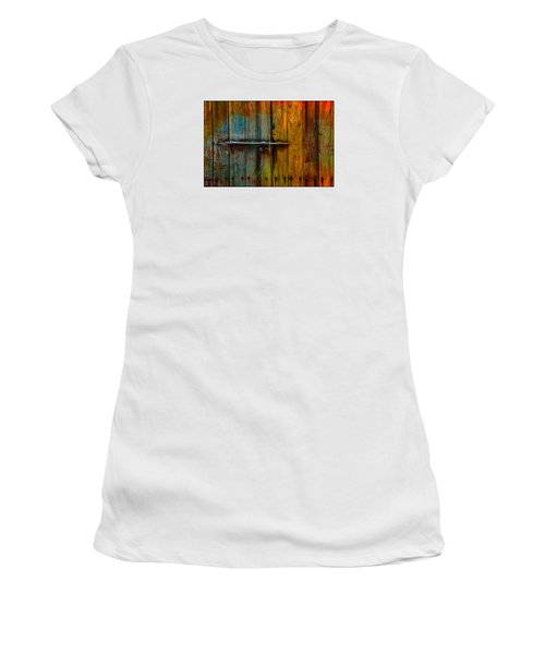 Colorful Lock Women's T-Shirt (Athletic Fit)