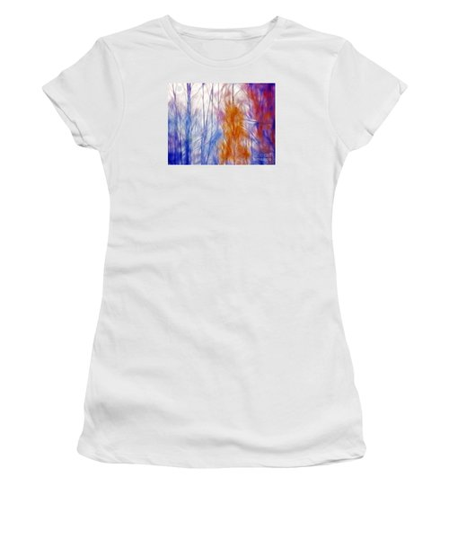 Colorful Misty Forest  Women's T-Shirt (Athletic Fit)