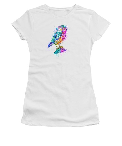 Colorful Owl Women's T-Shirt (Athletic Fit)