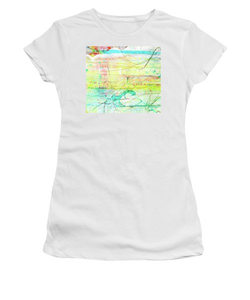 Colorful Pastel Art - Mixed Media Abstract Painting Women's T-Shirt