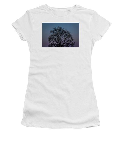 Colorful Subtle Silhouette Women's T-Shirt