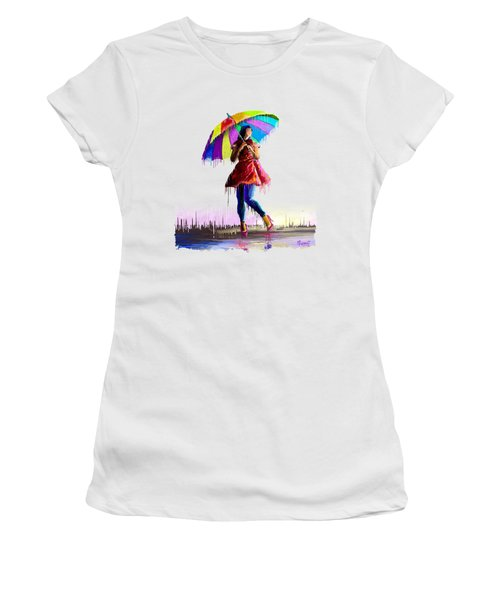 Colorful Umbrella Women's T-Shirt