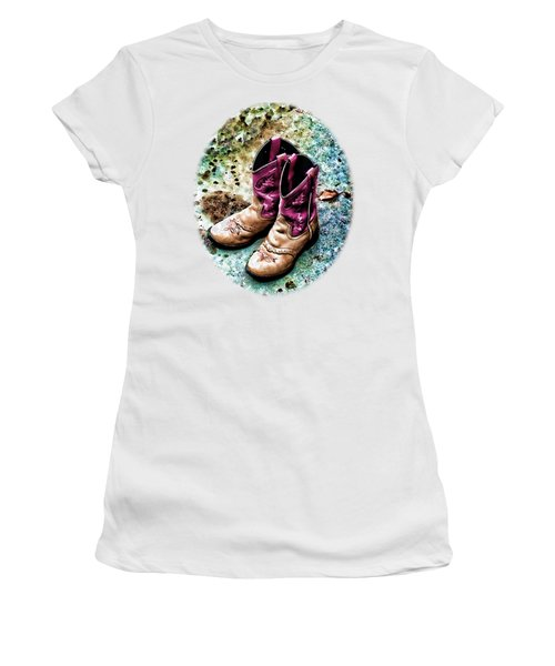 Colors Of A Cowgirl Oval White Women's T-Shirt