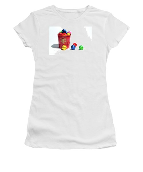 Coloured Baubles In A Pot Women's T-Shirt (Athletic Fit)