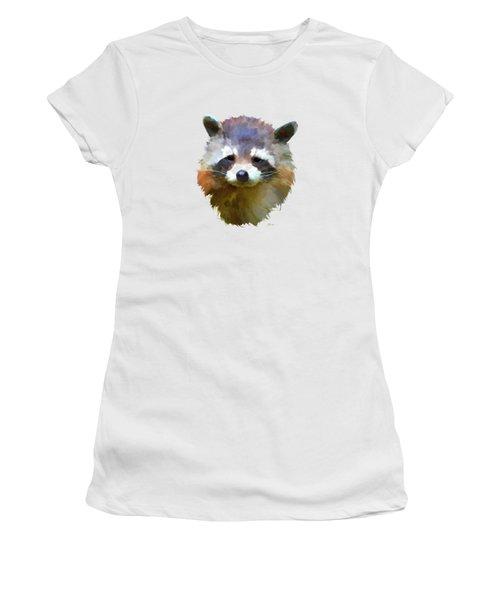 Colourful Raccoon Women's T-Shirt (Junior Cut) by Bamalam  Photography