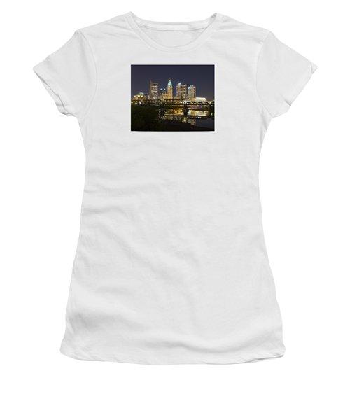Columbus Skyline 2 Women's T-Shirt (Junior Cut) by Alan Raasch