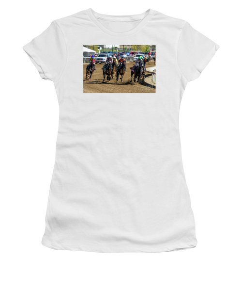 Coming Around The Turn Women's T-Shirt (Athletic Fit)