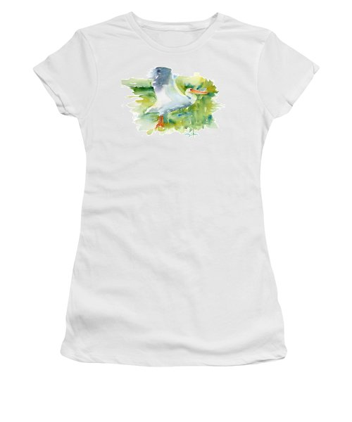 Coming In For A Landing  Women's T-Shirt (Athletic Fit)