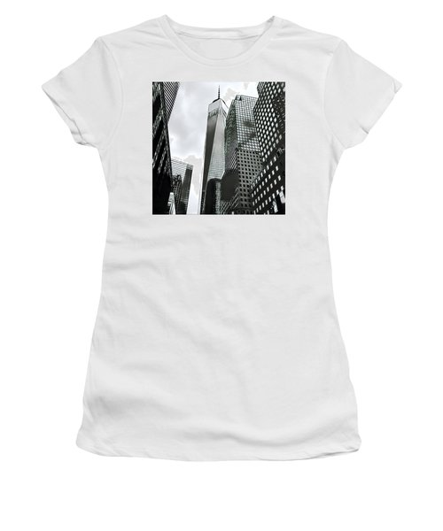 Commuters' View Of 1 World Trade Center Women's T-Shirt (Athletic Fit)