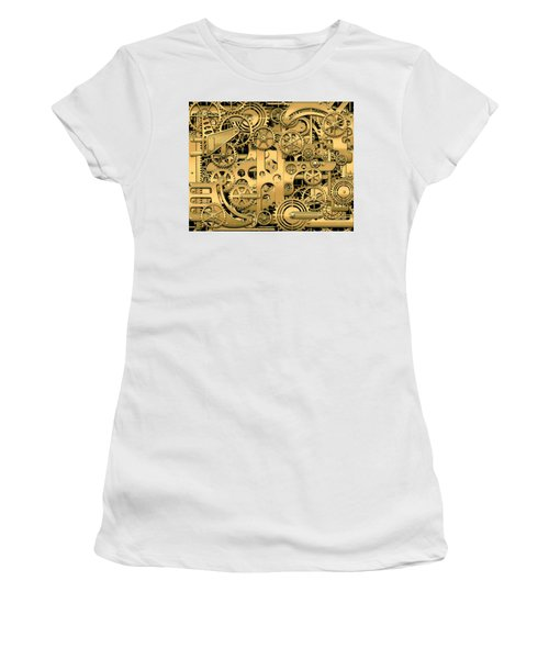 Complexity And Complications - Clockwork Gold Women's T-Shirt (Athletic Fit)