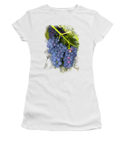 Women's T-Shirt featuring the painting Concord Grape by Ivana Westin