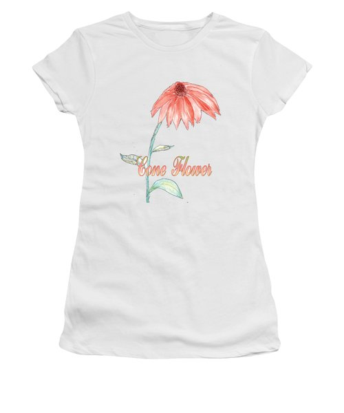 Women's T-Shirt featuring the painting Cone Flower by Judy Hall-Folde