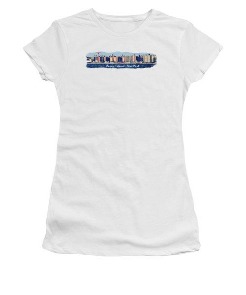 Coney Island Ny  Women's T-Shirt (Junior Cut) by Lilliana Mendez