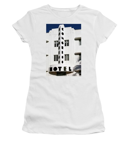 Congress Hotel. Miami. Fl. Usa Women's T-Shirt (Athletic Fit)