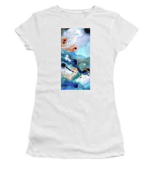 Contemporary Abstract Art - The Flood - Sharon Cummings Women's T-Shirt