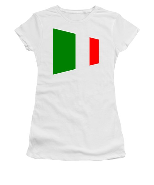 contemporary Italian Flag Women's T-Shirt (Athletic Fit)