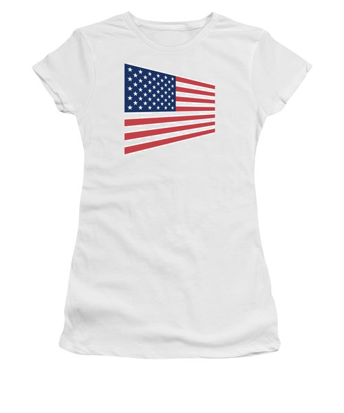 Contemporaryusa Flag Women's T-Shirt (Athletic Fit)