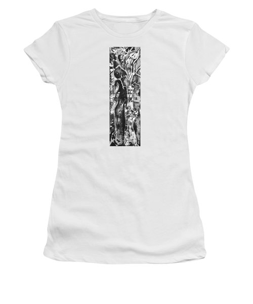 Women's T-Shirt (Junior Cut) featuring the painting Convenor by Carol Rashawnna Williams
