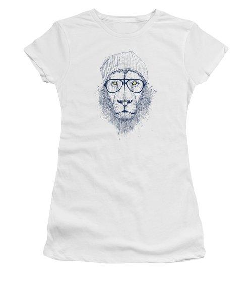 Cool Lion Women's T-Shirt (Junior Cut) by Balazs Solti