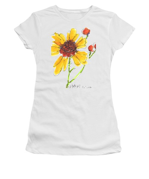 Coreopsis By Kathleen Mcelwaine Women's T-Shirt (Junior Cut) by Kathleen McElwaine