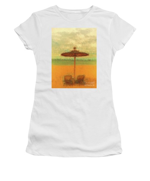 Women's T-Shirt featuring the photograph Corfu 18 - Mirage by Leigh Kemp