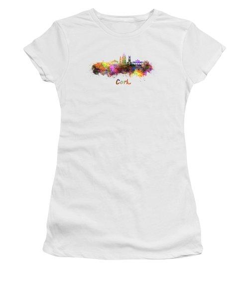 Cork Skyline In Watercolor Women's T-Shirt