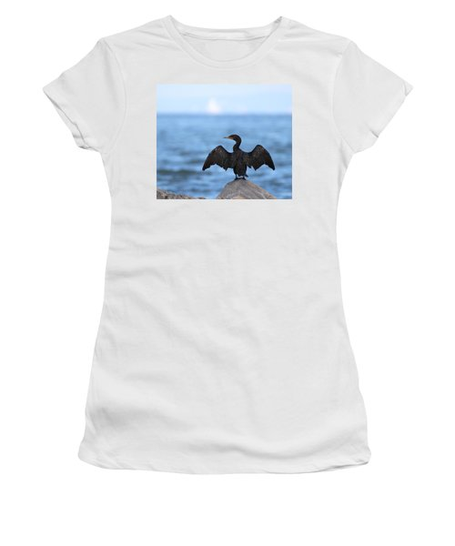 Cormorant Port Jefferson New York Women's T-Shirt (Athletic Fit)
