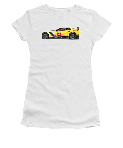 Corvette C7.r Lm Illustration Women's T-Shirt (Athletic Fit)